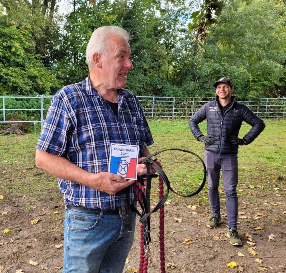 Fohlenprämie für Charlie Blue